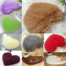 Non-slip Fluffy Shaggy Soft Foam Bedroom Floor Love Heart  Mat Rug Pad Carpet