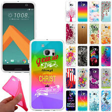For HTC 10 One M10 TPU Slim Flexible Gel Silicone Rubber Skin BACK Case Cover