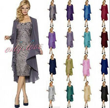 New Lace Formal Wedding Evening Dress Free Jacket Mother of Bride/Groom Dress