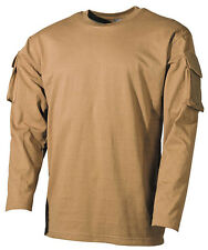 Tactical Military Army Special Ops Combat T-Shirt - Coyote,Olive - Long Sleeve