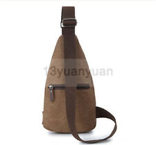 Men's Canvas Military Messenger Shoulder Travel Hiking Bag Backpack Chest Bag