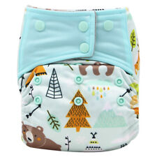 AIO Reusable Washable Cloth Diaper Nappy Charcoal Bamboo Insert Overnight