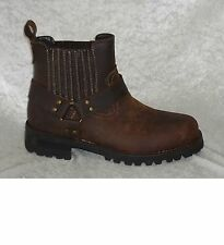 GBX Mens Boots Dorado harness leather man made slip on size 7.5 NEW