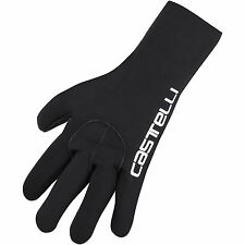 Castelli Diluvio Cycling Neoprene Gloves 4514536-110 - Black/Castelli Text