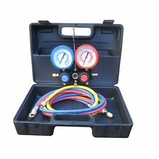 Refrigeration Air Conditioning 2 Way Manifold Gauge Sets and Hoses