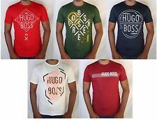 NWT Hugo Boss Men's Crew Neck Short Sleeve Cotton T-shirt Tee Size S M L XL