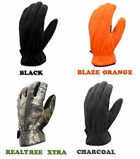 Men's WARM Fleece Gloves CAMO HUNTING SHOOTING HIKING CAMPING SAFETY WINTER XTRA