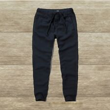 NWT Abercrombie & Fitch Mens Jogger Sweatpants Dark Navy Large