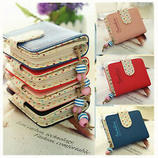 Women Ladies Fashion PU Leather Purse Zipper Dots Wallet Cards Holder Short Case