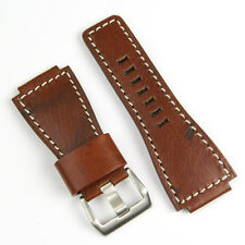 Vintage Wood Leather Watch Band fits Bell & Ross BR01 BR03
