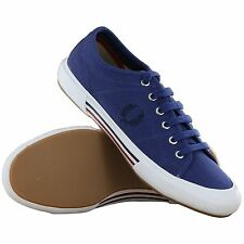 Fred Perry Vintage Tennis Canvas Trainers navy