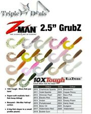 8 Pack of Zman 2.5 Inch Grubz-Z Man Soft Plastics Lures-Choose Colour-Z-Man Lure