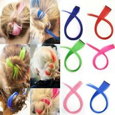 Hair Extensions Straight Women Clip Fashion Synthetic Long Multi Color Piece