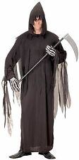 MEN GRIM DEATH REAPER ROBE COSTUME HALLOWEEN ADULT HORROR FANCY DRESS COSTUME