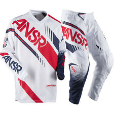 Answer 2017 Mx NEW Syncron Jersey Pants White Red Dirt Bike Motocross Gear Set