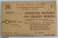 POSTCARD SET: HAROLD COPPING: CHARACTER SKETCHES FROM CHARLES DICKENS  UK c1900