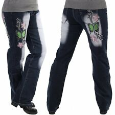 Women's XXL Jeans Pants Trousers Tribal Tattoo Crazy Age New 42 44 46 48 50