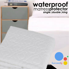 Waterproof TerryTowel Mattress Protector Fitted Sheet Single Double King Cot Bed