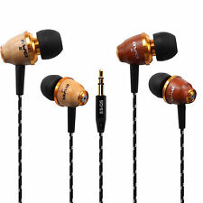 Awei Wooden Bass Stereo Headphone 3.5mm Headset Earbuds Earphone For MP3 MP4 PC