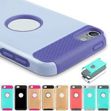 For iPod Touch 6th 5 Gen Case Shockproof Rubber Silicone Hard Plastic 2in1 Cover