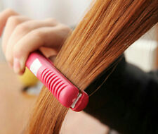 Straightening Hot Ceramic Electronic Curls comb Mini Pink Iron Hair Straightener