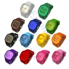 Unisex Sport Jelly Colorful Casual Silicone Quartz Candy Wrist Watch Square Gift