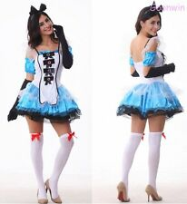 Sexy Alice in wonderland Ladies Women Halloween Party Costume Fancy Dress Outfit