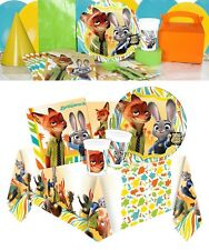 NEW Disney Zootropolis Birthday Party Tableware Plates Napkins Cups Tablecover