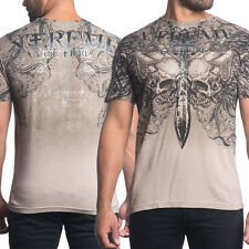 Xtreme Couture Olympus Bronze Skull Wing Sword UFC MMA Mens T-Shirt Tan Sand NEW
