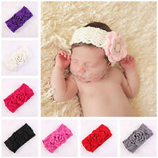 Baby Winter Ear Warmer Xmas Girls Crochet Knit Flower Hairband Headband Cool