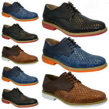 NEW MENS FAUX LEATHER LACE FASHION CASUAL FORMAL DESERT BROGUE BOOTS SHOES SIZE