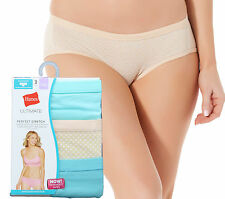 Hanes Womens Ultimate Perfect Stretch Soft Cotton Hipster Panty Underwear 2X-4XL