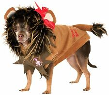 NEW Cowardly Lion Wizard of Oz Movie Dress Up Halloween Pet Dog Costume SZ LARGE