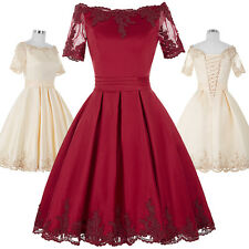 Women Short Formal Wedding Party Gown Cocktail Prom Evening Bridesmaid Dress New