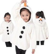 New Frozen Queen Snowman Olaf Girls/Toddler.Costume Hoodie Coat Jacket Tops 2-6Y