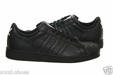 Adidas Originals Superstar II Black Black White 104339 Kids Juniors Shoes New
