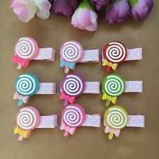 Dog Grooming Hairpins Pet bow Hair Clips Puppy cat lollipop resin Hair Clips