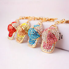 Lovely Cap Keyring Cute Dazzling Crystal Charm Pendant Key Bag Chain Gift