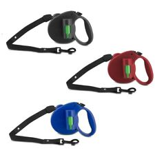 Bio Retractable Dog Leash PAW 12 Pick-Up Bags 16 Ft Blue Black Or Red New