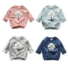 Kids Baby Girls Boys Infant Toddler Long Sleeve Tree Print T-Shirt Tops Clothes