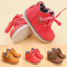 Kids Boys Girls Korean Boots Toddler Shoes Comfortable Trendy Flats Lace up