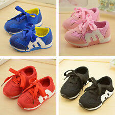 Kids Girls Child Boys Toddler Baby Shoes Sneaker Casual Flats Slip On Lace up
