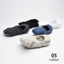 5 pairs Mens Socks elastic Crew Ankle Low Cut Fashion solid Casual Cotton Socks