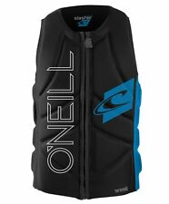 O'Neill Slasher Comp Vest Wakeboard and Waterski Black Blue PFD VIDEO