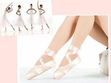 Pointe Ballet Shoes Dance Dancing Dancewear Pink Silk-or-Canvas Various-Size #YL