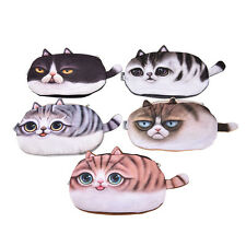 Hot Cute Cat Face Tail Coin Purse Kids Wallet Bag Change Pouch Key Holder