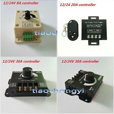 DC12V/24V 8A 20A 30A 2CH LED Switch Dimmer Controller For Led Strip Single Color