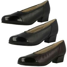 Ladies Equity Low Heel Wide Fitting Court Shoes - Felicity