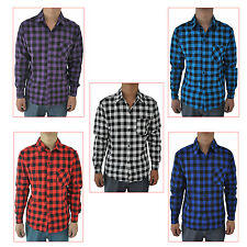 Mens Vintage Plaid Long Sleeve Shirt Slim Fit Shirts Men High Quality Shirt SYH