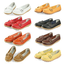 New women flats genuine leather shoes women slip on SYH